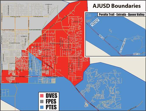 AJUSD Boundary Map