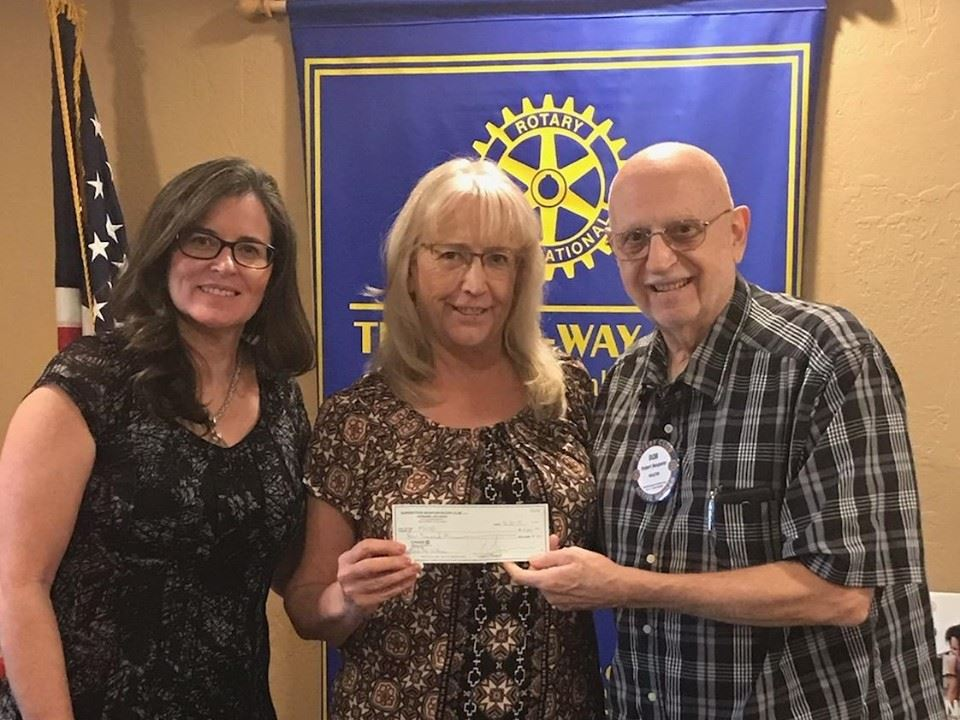 "Superstition Mtn. Rotary Club donates $4000 to AJUSD ""Feed the Children"" program"